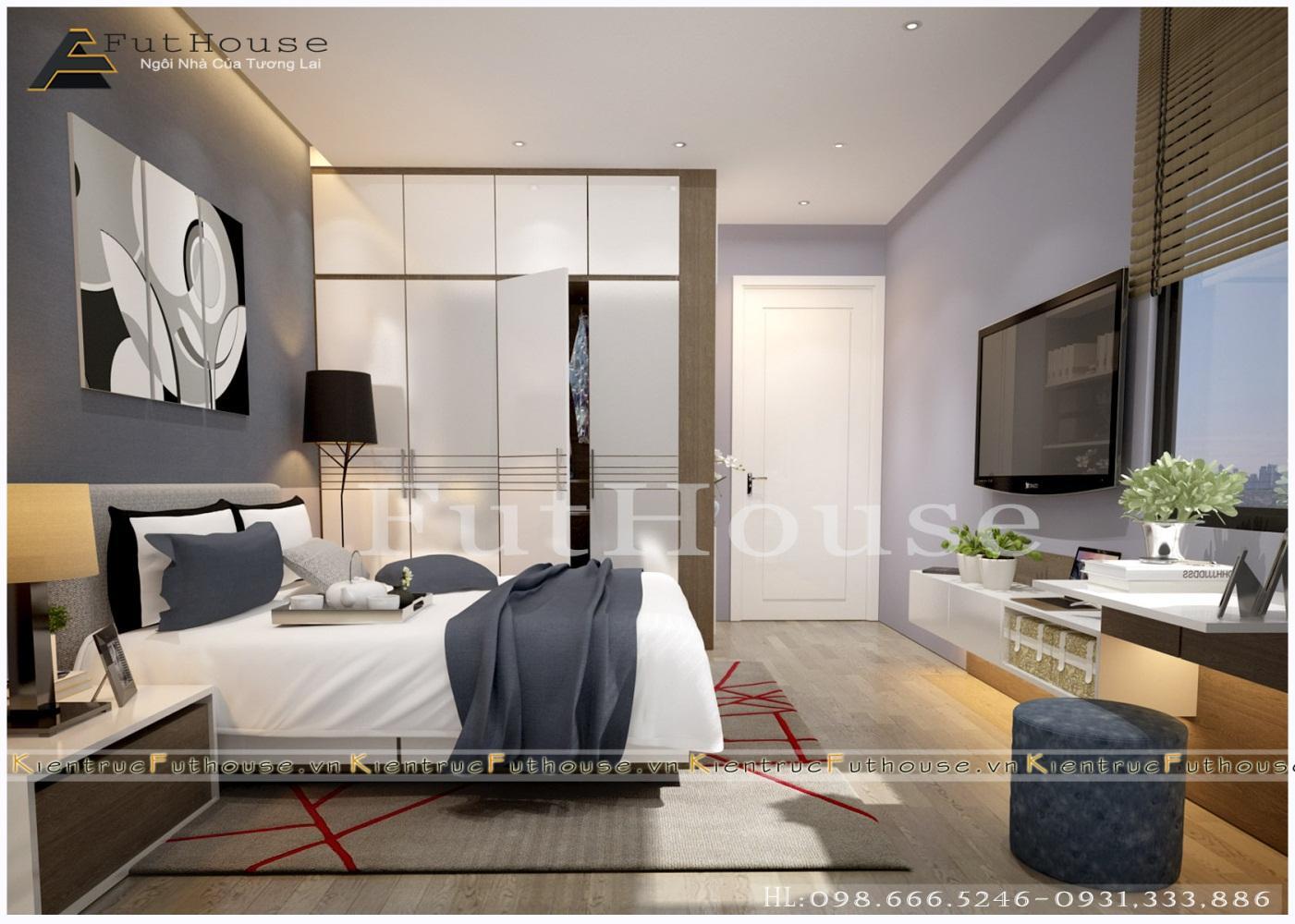 Ánh sáng thiên nhiên giúp không gian phòng ngủ luôn thông thoáng