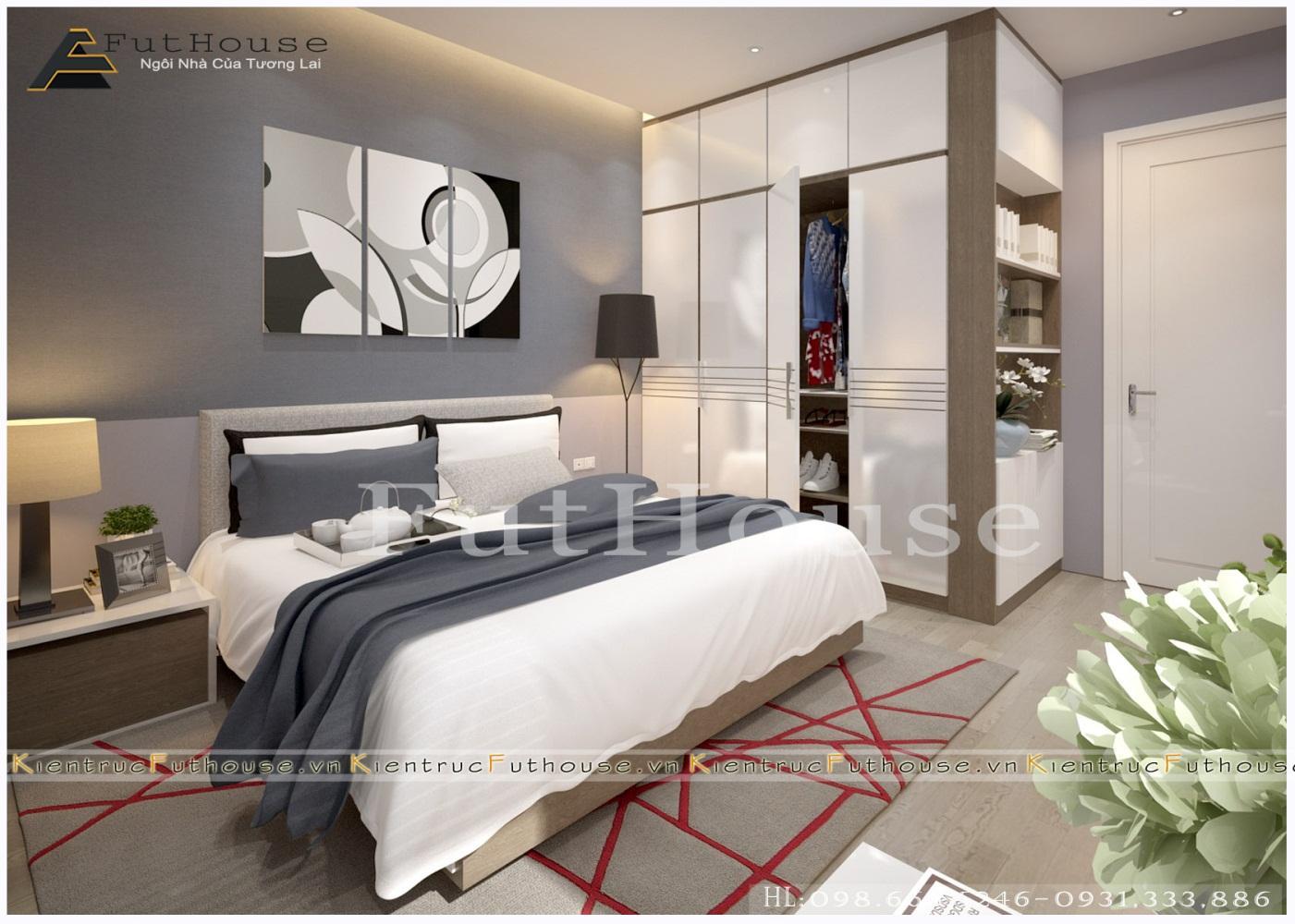 Không gian phòng ngủ với thiết kế hiện đại, cao cấp